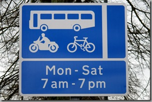 Gilesgate Bank Bus Lane Sign