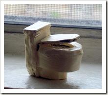 Miniature Cardboard Toilet