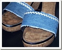Denim Embellished Sandals