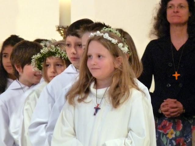 Carla bei der Erstkommunion