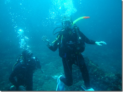 deb under water