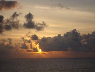 sunrise on the cruise