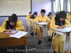 Suasana Ujian Semester Ganjil Bidang Studi Geografi  TP 2010  2