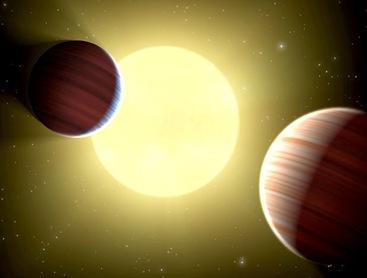 planetas ao redor da estrela