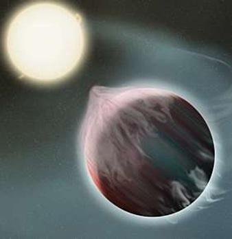 planeta sendo destruído pela gravidade estelar