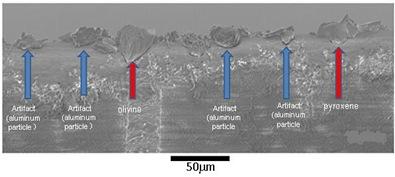 poeira analisada pelo microscópio eletrônico