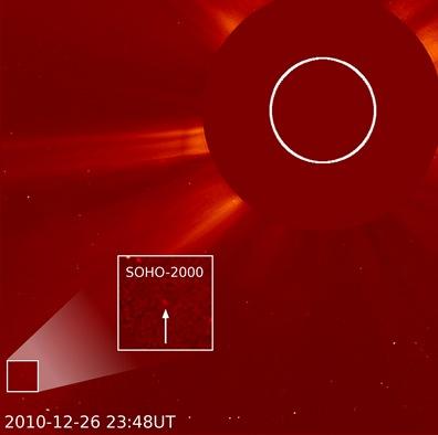 SOHO e o 2000º cometa