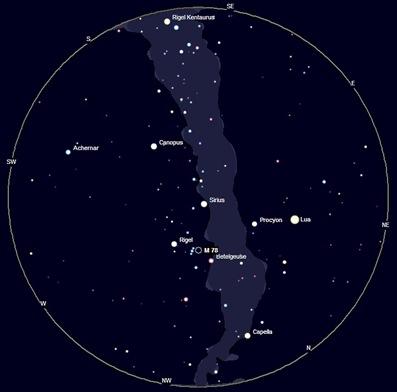 localização da nebulosa M78