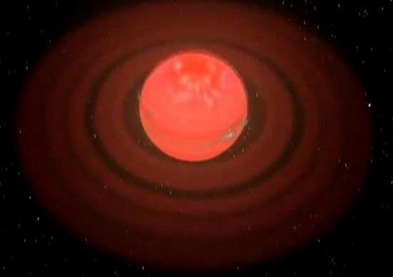 ilustração do planeta Tyche