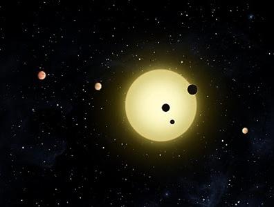 ilustração de exoplanetas