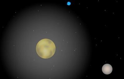 ilustração da atmosfera de Plutão