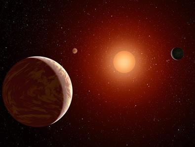 ilustração de exoplaneta sendo imagedo