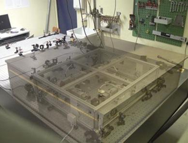 cavidade óptica usada no experimento