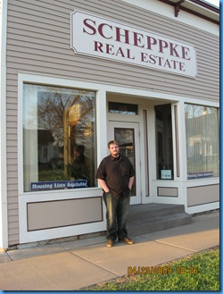 Bryan in front of what was Sandy's favorite candy store in Eau Claire WI