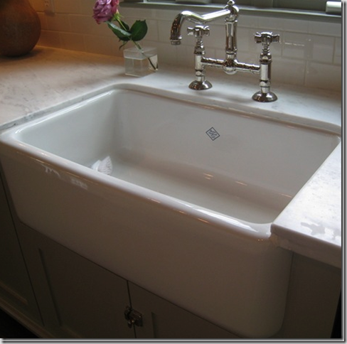 Porcelain Farmhouse Kitchen Sink : have long admired farmhouse sinks and this is the sink i assumed ...