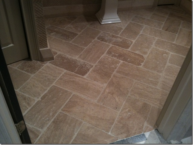 Examples Of Stone Floors With Herringbone And Chevron Patterns