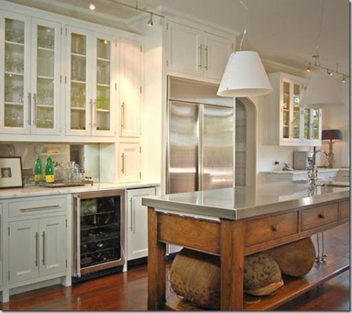 This beautiful kitchen was on a tour of homes last year. It was light and airy with many pretty glass front cabinets. Kitchen design by Cynthia Ziegler; ... & Things That Inspire: Glass front cabinets \u2013 form over function? kurilladesign.com