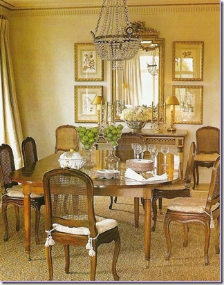 Gerrie Bremermann Uses The Mirror With Framed Items In A Dining Rooms.