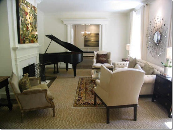 Here Is The Dilemma When You Have A Small House But Large Piano This Room Not It Has Lot Of Furniture Plus Grand