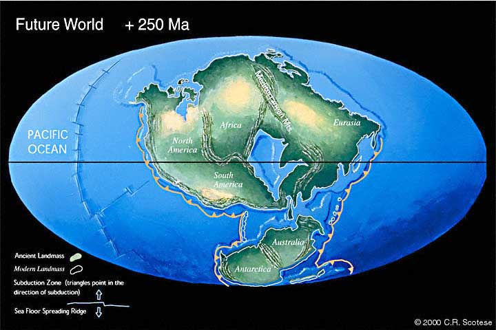 what the earth will look like in 250 million years