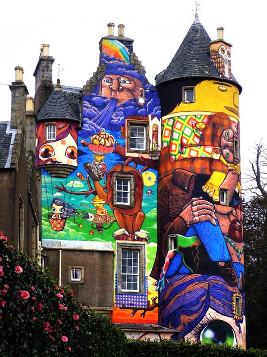 005 Amazing 3D Graffiti Art, Castles and buildings : Part 2