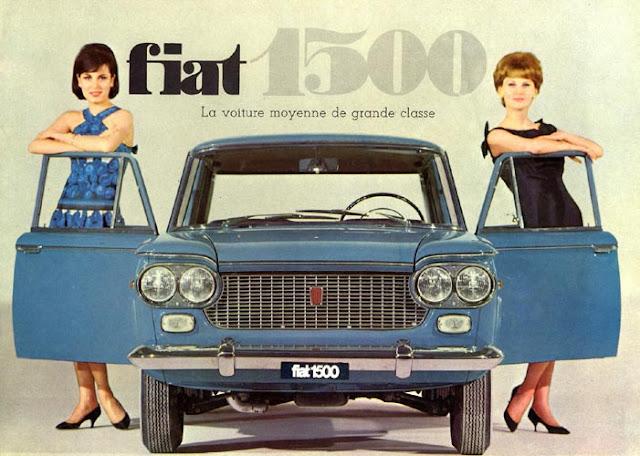 c13 Girls & Cars in European Vintage Ads