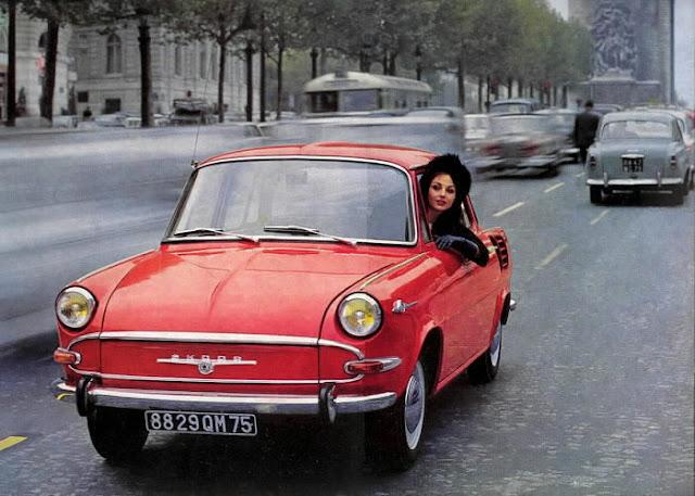 c4 Girls & Cars in European Vintage Ads