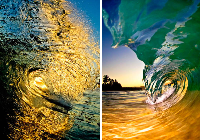 Fotos desde dentro de olas (de agua)