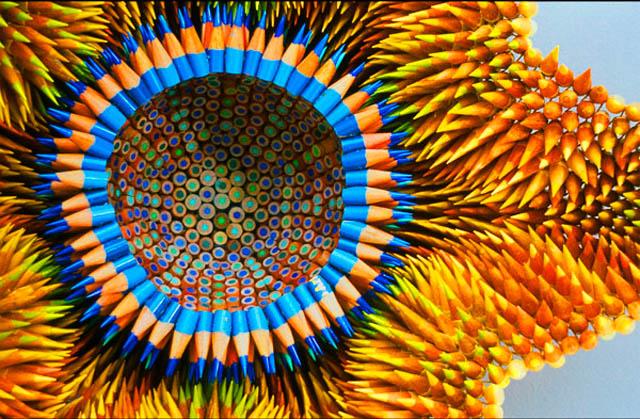 Поделки с цветных карандашей фото