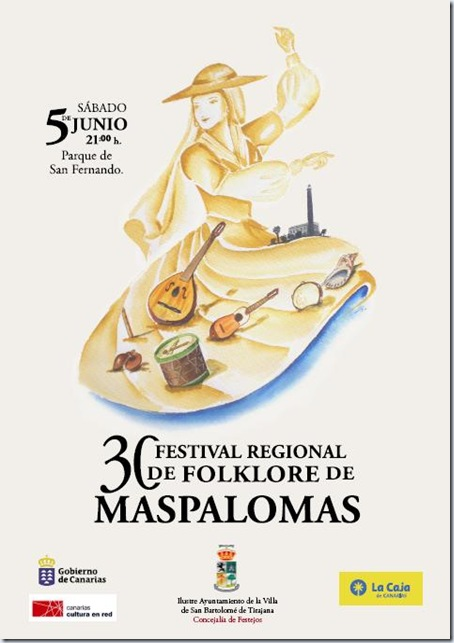 Cartel 30 Festival de Folklore de Maspalomas