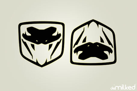 Viper logo upside down