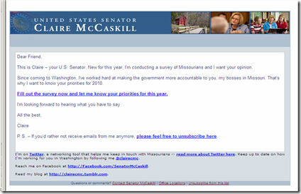 Email From Claire McCaskill