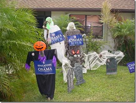 Obama Yard Sign Halloween
