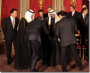 Bowing To King of Saud.