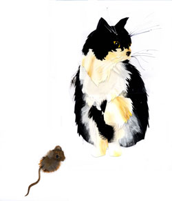 janet and a mouse