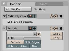 Configurando o modificador Explode