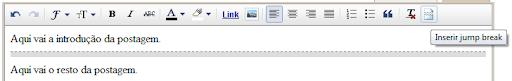 """Editor """"Rich Text"""" do Blogger"""