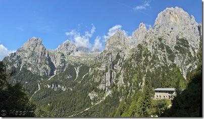 Rifugio Canali-Treviso panorama