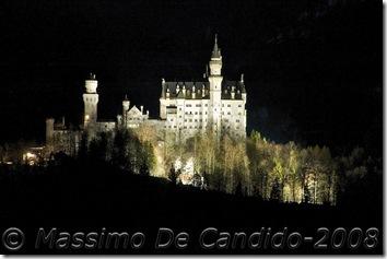 Castello Neuschwanstein - ripresa notturna