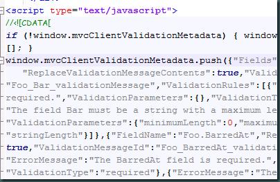 JS output