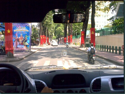 Streets of Saigon - Communist Party banners
