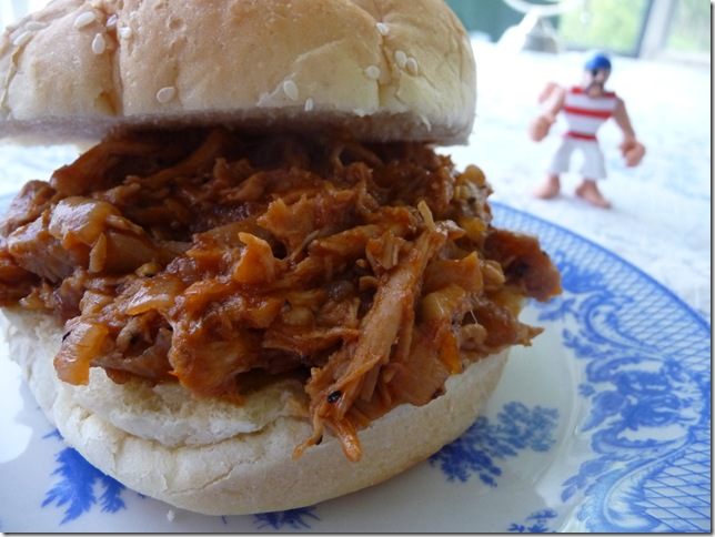 BBQ chicken sammies