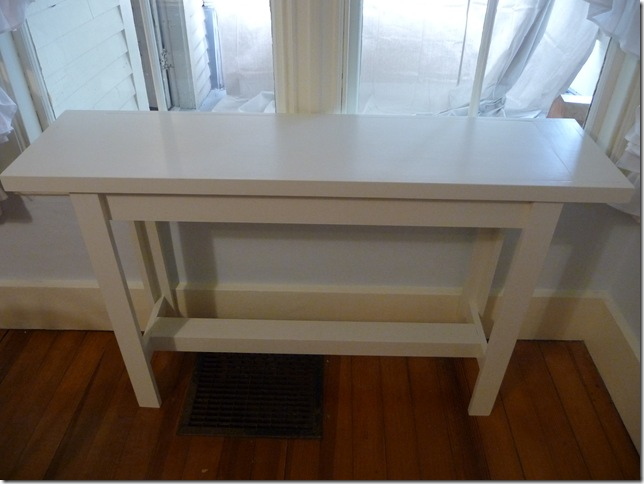 bare console table