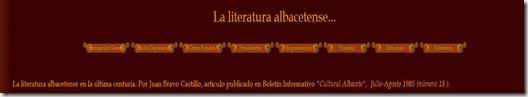 La literatura albacetense - Juan Bravo Castillo (1985)