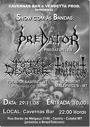 cartaz show predator
