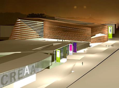 CREAA , proyecto del centro de creacion de las artes de Alcorcon en el parque de los castillos