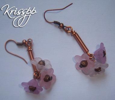 Pendientes campanillas star rosas