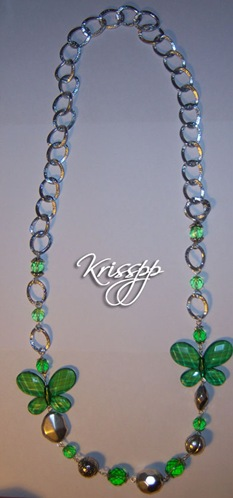 Collar Mariposas verdes