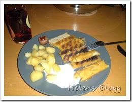 Findus fiskpinnar med stekt färsk potatis