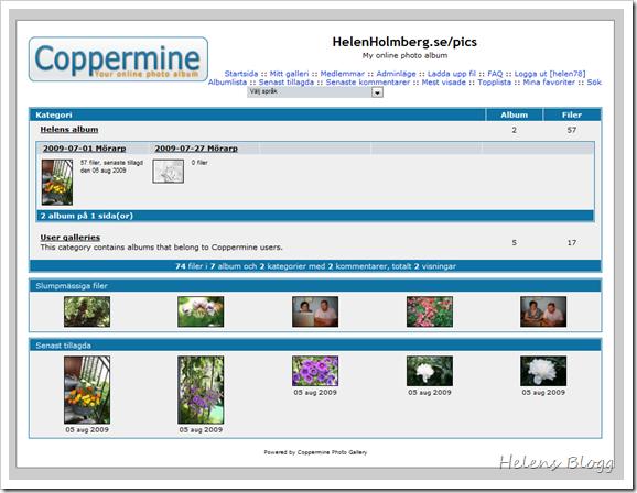 Coppermine online photo album
